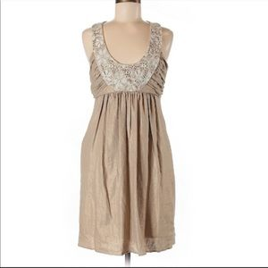 Anthro Brand Molly NY Linen Dress w Crochet/Detail